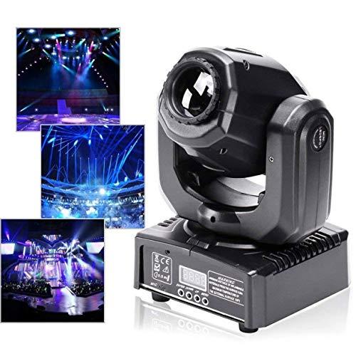 U`King 60W Moving Head LED Discolicht Kaleidoskop Lichteffekt Partylicht mit Beleuchtung Ring Bühnenlicht 8 Farben+4 Muster für Party Stage Bar Weihnachten Halloween