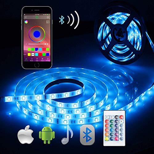 Striscia LED RGB 5M, ALED LIGHT LED Striscia Impermeabile 5050 Controllo Bluetooth Kit Completo con...
