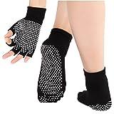 Calcetines y guantes de yoga de las mujeres con anti deslizamiento puntos de silicona no...