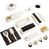 Sushi Maker Kit 10 PCS Moules à Sushi Cuisine Bricolage facile Kit de Préparation à Sushi Sushi set set riz Rouleau Kit Sushi Sushi Maker DIY Cuisine Coffret Complet Convient à Dãbutants (Blanc)