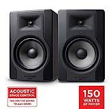 """M-Audio BX8 D3 Pair - Par de Monitores / Altavoces activos de estudio bidireccionales, 150 W con woofer de 8"""" para producción musical y mezcla de música, con función Acoustic Space Control incorporado"""