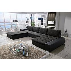 Sofa Couchgarnitur Couch Sofagarnitur VERONA 3 U Polstergarnitur Polsterecke Wohnlandschaft mit Schlaffunktion