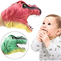 Títeres de mano Divertidos Suave Dinosaurio Jurásico Marionetas de mano Figura de juguetes Tiranosaurio Guantes en forma de juguetes Cabezas de mano Títeres Guante Muñeca Juguetes para niños