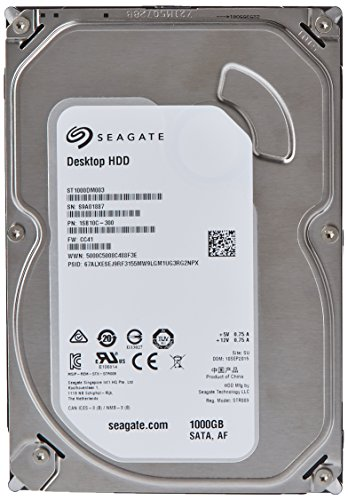 Seagate Barracuda ST1000DM003 Hard disk interno 1TB 7200 RPM 64MB Cache SATA 6.0Gb/s 3.5'