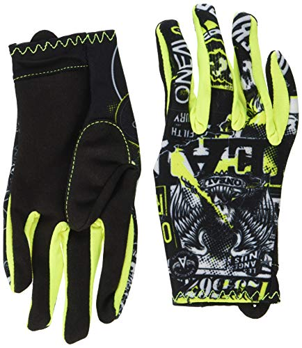 O'Neal Matrix Kinder Handschuhe Attack Neon Gelb Hi-Viz MX MTB DH Motocross Enduro Offroad, 0388R-0,...