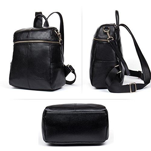 95d2ba9522 BOSTANTEN Women Genuine Leather Backpack Rucksack Ladies Casual ...