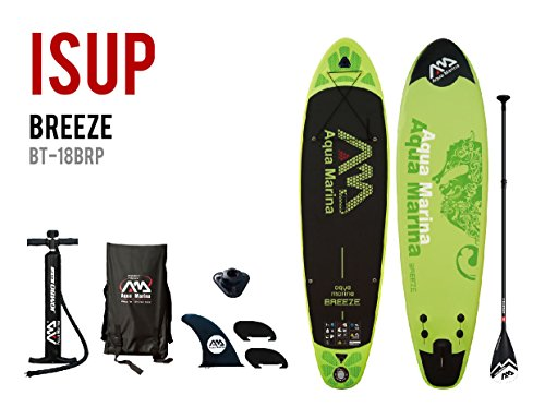Aqua Marina Sport Breeze 10.10 Isup Sup Stand up Paddle Board II Paddel, Blau Schwarz, 330cm x75cm x 10cm