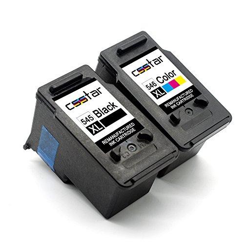 CSSTAR Rigenerate Cartucce d'inchiostro Compatibili per Canon 545 546 PG-545XL CL-546XL per Pixma...