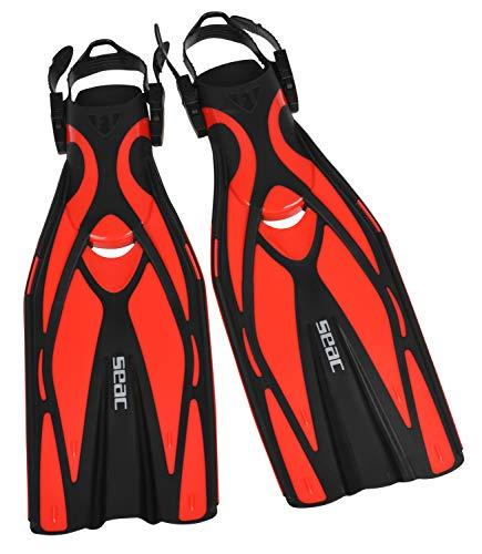 Seac F1 Palma di immersione regolabile Unisex, unisex, F1, rosso, L/XL