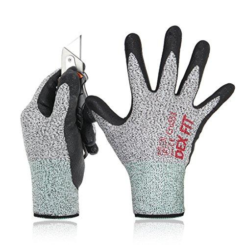 DEX FIT Livello 5 Guanti Antitaglio Cru553, 3D, Power Grip, Smart Touch, Sottile e leggero, Superare...