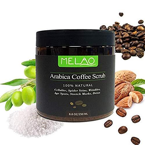 8.8 once,100% Scrub al di caffè Arabica naturale con burro organico di caffè, cocco e karitè,
