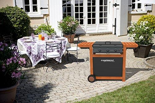 Campingaz 3 Series.Campingaz Campingaz 3 Series Adelaide Woody Flatbed Three Burner Barbecue Bbq Black Silver 80 X 50 X 20 Cm