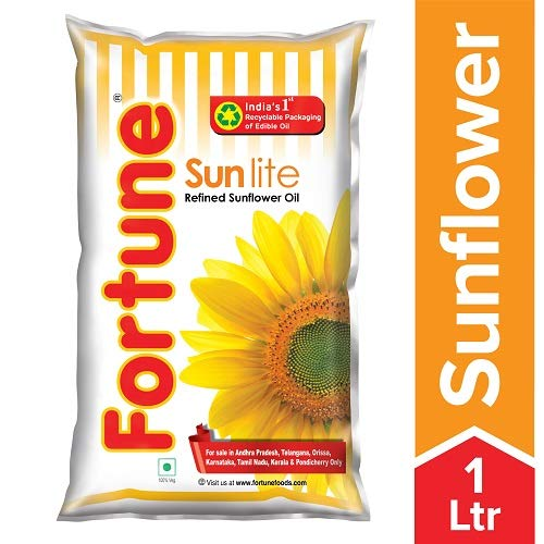 Fortune Sunlite Refined Sunflower Oil, 1L