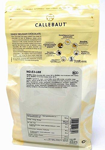 Callebaut 3 x 1kg Bundle - Chocolat de Couverture au Lait, Noir & Blanc Belge - Finest Belgian Chocolate (Callets) Lot de 3 x 1kg 25
