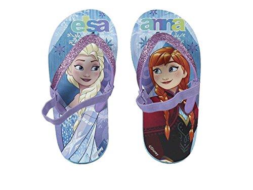 Artesanía Cerdá Disney Frozen 2300002355 Sandali Glitter, Infradito con Elastico, Bambina (34/35)