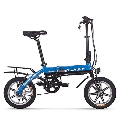 Rich-Bit-RT-618-Vlo-lectrique-Ebike-pliable-pour-vlo-250-W-36-V-8-Ah-Batterie-LG-356-cm-Roue-de-vlo-de-ville-en-commun-longue-dure-du-nouveau-Mode-Peinture-Bleu
