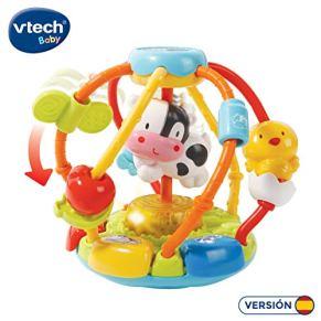 VTech-80-502922 Cuentas muuusicales, sonajero bola interactiva bebé con más de 45 melodías, voces y canciones…