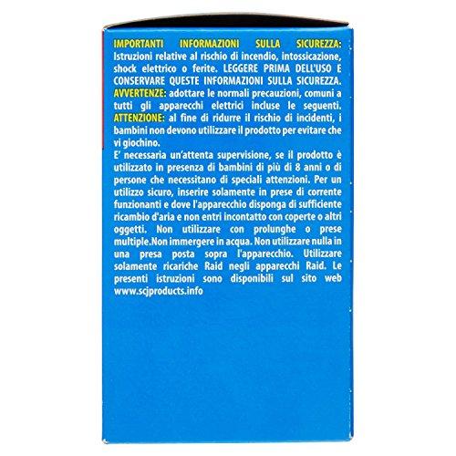 Raid Liquido Elettrico Antizanzare Pacco Promo - Contiene 2 Diffusori + 2 Ricariche, durata 60 Notti