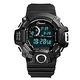 Relojes para hombre Reloj anal¨gico digital de alarma digital LED de alta calidad con funciones m¨²ltiples Negro / azul claro