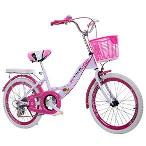 Bicicletas infantiles Plegable de 18/20/22 Pulgadas Bicicleta de Velocidad Variable para niños con Freno Bicicleta para…