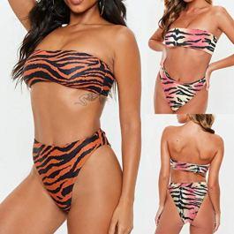 Donne Push-up Reggiseno Stampare Spiaggia Bikini, Set Costume da Bagno Sportivi Sexy Bikini Costumi da Bagno Beachwear Due Pezzi