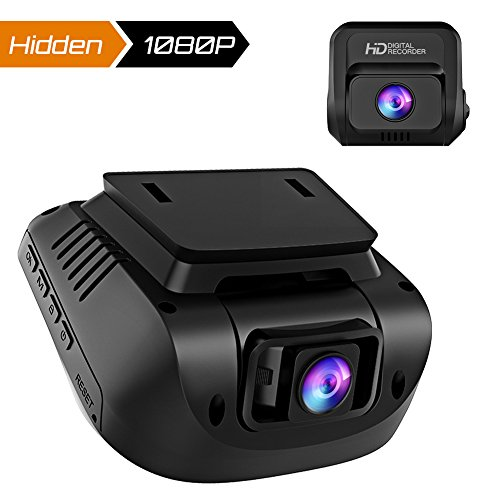 Crosstour Dash Cam Both 1080P FHD Front and Rear Dual Lens in Car Camera Recorder External GPS HDR Both 170 degree Angel Motion Detection G-Sensor Loop Recording