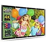 100'' Inch Projector Screen, GoFree Portable Projection Screen 16:9 HD 4K Foldable for Home Theater Cinema Indoor Outdoor HD Movie Screen,Collapsible Widescreen