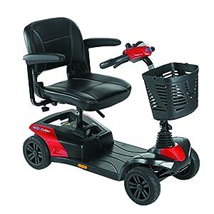 Scooter Colibri con 4 ruedas de Color Rojo
