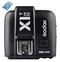 Godox x1t de N Selens iTTL DE 2,4GHz inalámbrico de Hot Shoe–Disparador de Flash emisor con HSS 32Canales para Nikon DSLR Cámara Negro