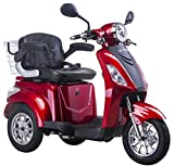 Scooter, E-Mobile, Senior véhicule, E de Tricycle rouge 25 km/h (Rouge)