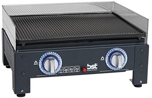 BST barbecue piastra da appoggio gas gpl e/o metano 54x42x23cm EUROPLANCIA 663