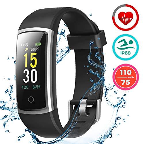LATEC Fitness Tracker, Smartwatch Orologio Android iOS Cardiofrequenzimetro Monitor per la Pressione...