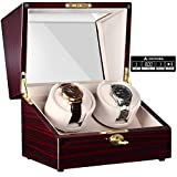 CHIYODA Double Watch Winder with Two Quiet Mabuchi Motor, LCD Digital Display