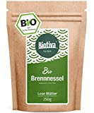 Brennnesselblätter-Tee Bio (250g) - Brennesseltee - lose Blätter - 100% Bio Brennnessel-Kräuter - Abgefüllt und kontrolliert in Deutschland (DE-ÖKO-005) - GP: ? 3,56/100g