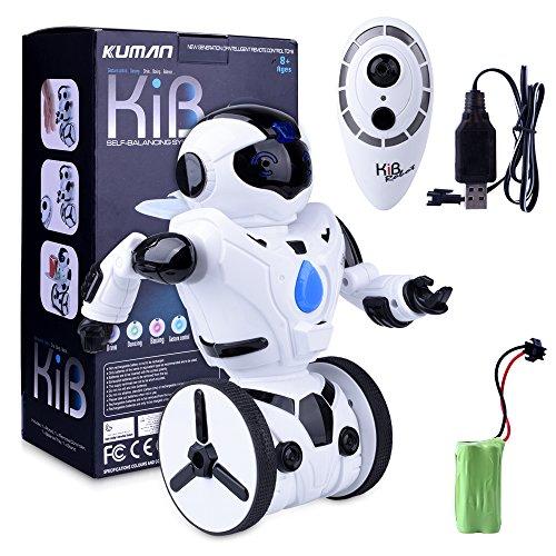 51kzCOnc%2BqL - Kuman Robot Multifuncional de Control Remoto para Niños 2,4 GHz, Mini Robot Electrónico, 5 Modos de Funcionamiento, Baile, Boxeo, Conducir, Cargar, Detección de Gestos, Súper divertido Robot RC 1016A