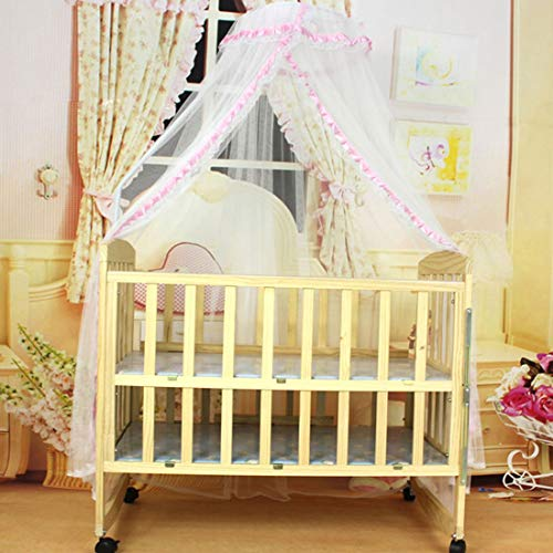 Voberry Infant Bed Net Mosquito Net Crib Tent Canopy Netting for Crib Cot Pink
