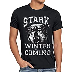 style3 Winter Is Coming Camiseta para hombre T-Shirt, talla:L;Color:Negro