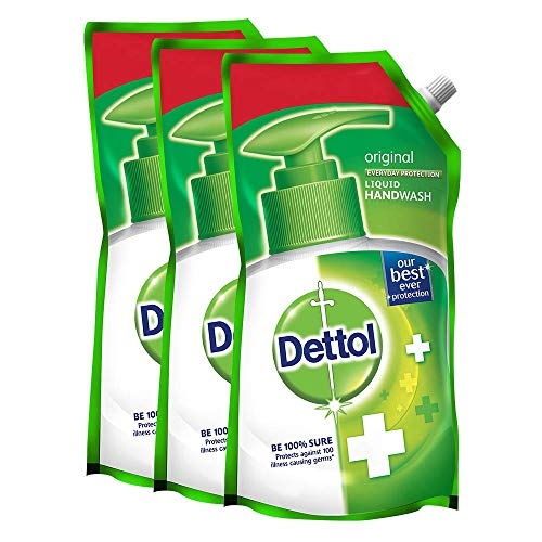 Dettol Original Liquid Soap Refill - 750 ml (Pack of 3)