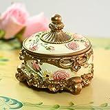 Sannix vintage Luxury carving Antique Jewelry Box regalo inciso Trinket Ring box Storage box  (bianco)