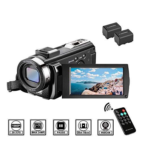 Videocamera Full HD 1080P 30FPS Fotocamera Digitale 3.0' LCD Schermo Ruotabile 270° Zoom Digitale...