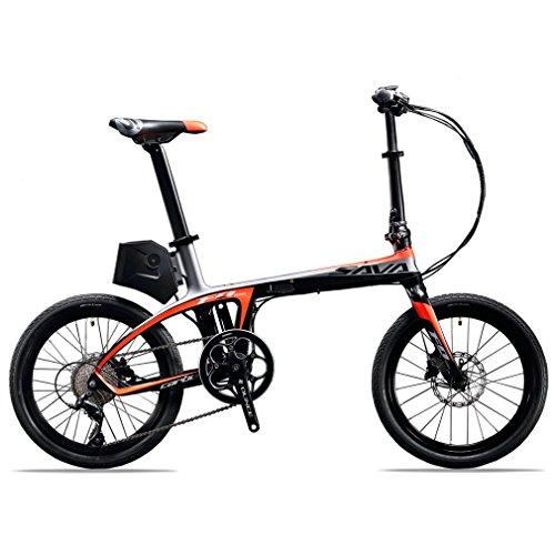 SAVADECK-E6-Vlo-lectrique-Fibre-de-carbone--bicyclette-pliante-de-20-36V-250W-Bicyclette-pliante-Pedelec--pdale-avec-SHIMANO-SORA-9-vitesses-et-batterie-amovible-36V-58Ah-SAMSUNG-Li-ion