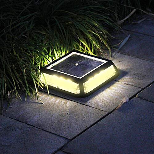 - WATOPI - Luci a energia solare, 12 LED, quadrate, a forma di mattoni, per vialetti e vialetti