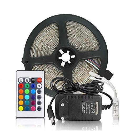 Himack Waterproof RGB Remote Control LED Strip, Light Colour Changing for Diwali and Christmas Lighting (Multicolour)