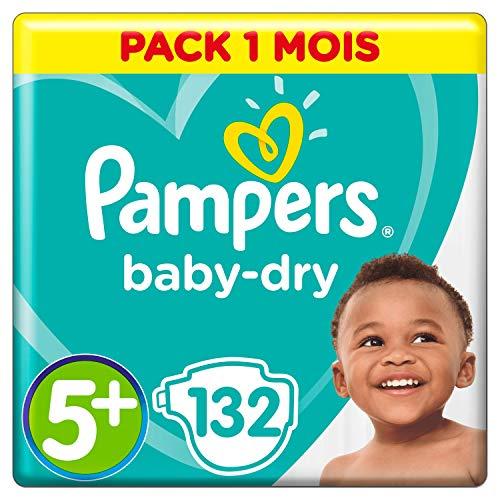 Pampers Baby-Dry, Pannolini, Taglia 5+ (12- 17kg), Confezione da 132 pezzi