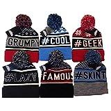 Unisex ProHike Slogan Bobble Hat #cool #famous #geek #grumpy #lazy #skint (#cool)