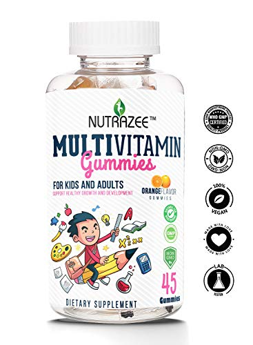 Nutrazee Complete Multivitamin Vegetarian Gummies for Kids, Teenagers, Men,  Women, Adults With Essential Vitamins, 45 Gummy Bears | RawWhey