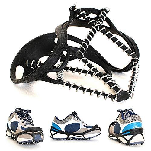 JINM - Cubierta antideslizante para zapatos, peso ligero, elástica, Crampones profesionales, para tracción de hielo, nieve, pinchos, antideslizante, para senderismo, escalada, montañismo, hielo, nieve