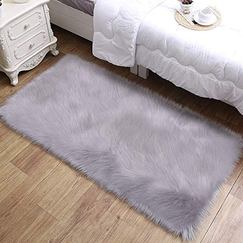 DAOXU Piazza 90 x 60 cm Tappeto Faux Fur Morbido soffice Tappeto Peloso Faux Montone Tappeto Tappeto...