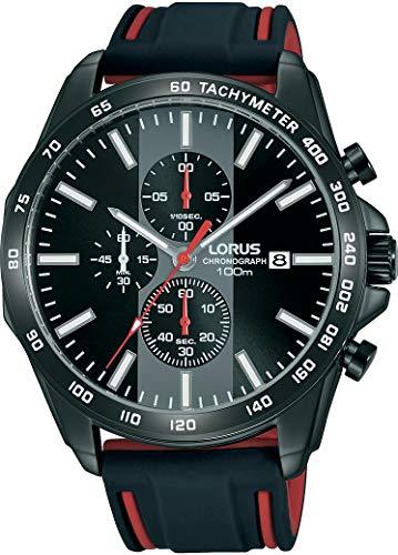 LORUS Orologio Cronografo Quarzo Uomo con Cinturino in Silicone RM387EX9