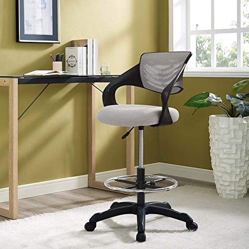 Modway EEI-3040-GRY Thrive Mesh Drafting Chair, Gray